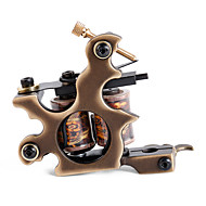 Solong Tattoo Custom Brass Tattoo Machine Gun Handmade 12 Wrap Pure Copper Coils for Shader M206-2