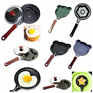 6PCS For Egg/Cake/Pizza Separator! Stainless Steel Cartoon Animal Heart-Shaped Fried Eggs Cooker Frying Pan With a Covermany Designs