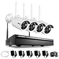 annke 4ch CCTV-System drahtlose 960p nvr 4pcs 1.3MP IP CCTV-Kamera ir p2p