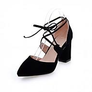 Damen-High Heels-Hochzeit Büro Lässig Party & Festivität Kleid-Kunststoff PU-Blockabsatz Block Ferse-Komfort Neuheit-Schwarz Rosa