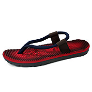 Men's Slippers & Flip-Flops Spring Summer Microfibre Outdoor Casual Flat Heel Red Blue