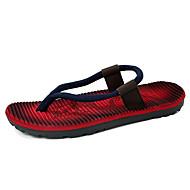 Herren-Slippers & Flip-Flops-Lässig-MikrofaserLeuchtende Sohlen-Blau Rot