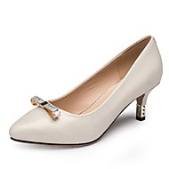 Aokang Women's Shoes Faux Leather Stiletto Heel Heels/Comfort/Pointed Toe/Closed Toe Pumps/Heels Wedding/Outdoor/Office