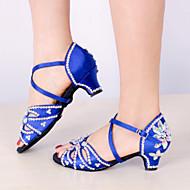 Sapatos de Dança(Preto Azul) -Feminino-Personalizável-Latina