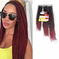 Szenegál Twist Zsinór Póthajak 18Inch+20Inch+22Inch Kanekalon 81 Strands Part 200g gramm Hair Zsinór