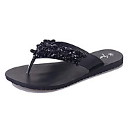 Women's Slippers & Flip-Flops Spring Summer Comfort PU Casual Low Heel Others Black Silver Other