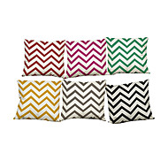 Set of 6 Modern simple wave pattern  Linen Pillowcase Sofa Home Decor Cushion Cover