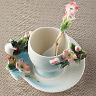Nyhet Drikkeredskaper Tekopper Vinglass Vannflasker Kaffekrus Te & Varm Drikke 1 PC Keramikk, -  Høy kvalitet