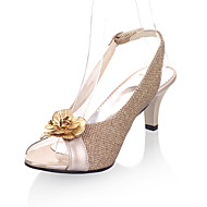 Women's Sandals Spring Summer Fall Other PU Party & Evening Dress Casual Stiletto Heel Flower Black Gold Sliver