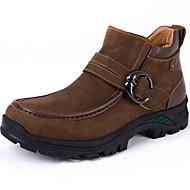Støvler-Nappalæder-Komfort-Herre-Kaki-Udendørs Kontor Fritid
