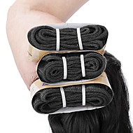 "3 Pcs /Lot 12""-22""6A Virgin Indian Hair Natural Wave Human Hair Weaves"