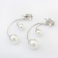 Ohrstecker Perle Künstliche Perle Aleación Modisch Silber Schmuck 1 Paar