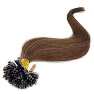 베스트셀러 16 인치-24inch 최고 품질의 부드러운 직선 100 % 처녀 인도 U-팁 인간의 머리카락 확장 처녀 머리 u는 머리 확장 팁