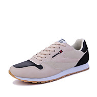Men's Athletic Shoes Spring Summer Fall Winter Comfort PU Casual Flat Heel Lace-up Black/White Black/Gold Black and Red Walking