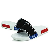 Masculino-Sandálias-ConfortoPreto Vermelho Branco-Lona-Ar-Livre Casual