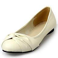 Damen-Flache Schuhe-Büro Kleid Party & Festivität-Kunstleder-Flacher Absatz-Andere-Schwarz Blau Gelb Rosa Beige