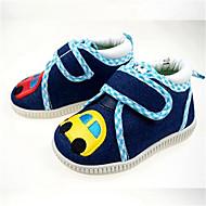 女の子 赤ちゃん フラット スリングバック キャンバス 夏 カジュアル スリングバック フラワー フラットヒール ブルー フラット