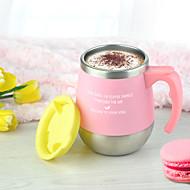 Neuartige Trinkbecher, 450 ml wärmespeichernde Wärmeisoliert Edelstahl Polypropylen Tee Kaffee Vakuum-Cup