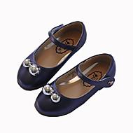 Para Meninas-Sapatos de Barco-Menina Flor ShoesRoxo Branco Vinho-Couro Ecológico-Casual