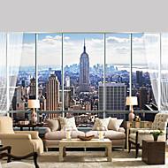Fleur Décoration artistique 3D Fond d'écran pour la maison Contemporain Revêtement , Toile Matériel adhésif requis Mural , Couvre Mur
