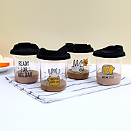 Transparent Zeichentrick Trinkbecher,300 Transportabel BPA frei Silikon Kaffee Wasser Becher