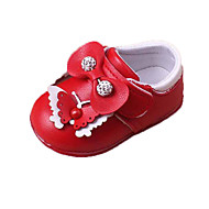 Baby Flats First Walkers Light Soles PU Casual Flat Heel Bowknot Sparkling Glitter Pink Red White
