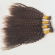 Precolored髪織り モンゴリアンヘア カール 6ヶ月 4個 ヘア織り