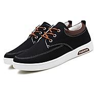 גברים-נעלי ספורט-קנבס-נוחות-שחור כחול לבן אפור-שטח יומיומי ספורט-עקב נמוך