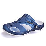 férfi szandál tavasz nyár lyuk cipő pu alkalmi mások fekete kék szürke egyéb