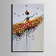 Handgeschilderde Abstract Mensen Olie schilderijen,Modern Europese Stijl Eén paneel Canvas Hang-geschilderd olieverfschilderij For