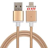 USB 2.0 Tressé Magnétique Câble Pour Samsung Huawei Sony Nokia HTC Motorola LG Lenovo Xiaomi cm Métal Nylon