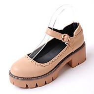 Women's Loafers & Slip-Ons Spring Summer Fall Gladiator Leatherette Wedding Outdoor Party & Evening Dress Casual Chunky HeelBlack Brown