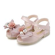 Para Meninas-Sandálias-Conforto Menina Flor Shoes-Rasteiro-Rosa Verde Claro Roxo Claro-Courino-Casamento Ar-Livre Social Casual Festas &