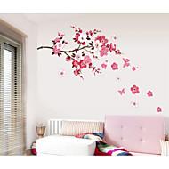 Romantik Mode Blumen Wand-Sticker Flugzeug-Wand Sticker Dekorative Wand Sticker,Papier Stoff Haus Dekoration Wandtattoo