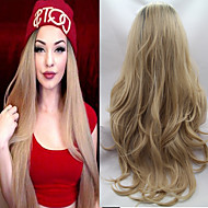 кружева парики из синтетических волос / Ombre фронт париков шнурка тела волны двух тон # 1b / 27 светловолосых синтетические парики шнурка