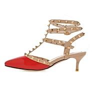 Kényelmes Hátsó pántos Club cipő-Stiletto-Női cipő-Szandálok-Irodai Ruha Party és Estélyi-Lakkbőr-Fekete Rózsaszín Piros Görögdinnye Vörös