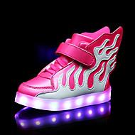 Za djevojčice Sneakers Proljeće Ljeto Jesen Zima Udobne cipele PU Aktivnosti u prirodi Ležeran Atletika Ravna potpetica Kopča LEDZelena