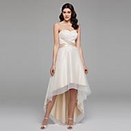 Linea-A A cuore Asimmetrico Chiffon Raso Tulle Vestito da sposa con Perline Fascia / fiocco in vita Con fiocco di LAN TING BRIDE®