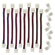 zdm 5pcs בצורת L 10mm מחבר המפצל המהיר 5 מנצח עבור wrgb 5050 עם 10pcs 5050 מחבר אור wrgb הרצועה