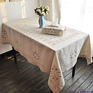 135x175cm rectangular embroidered table cloth linen tablecloth on sale - Cloth Tablecloths