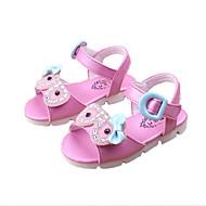 Sandály-PU-Pohodlné-Dívčí-Růžová Meloun-Běžné-Plochá podrážka