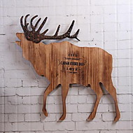 Wall Decor Wood Contemporary Wall Art Wood Color Elk Wooden Handicrafts