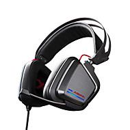 XIBERIA S25 Game Earphone LED Light Stereo Headband Glowing PC Gamer Headphones Super Bass 7.1 Usb Vibration Headphones With Mic