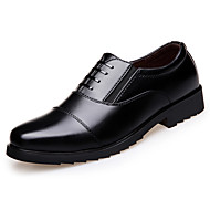 Men's Oxfords Spring Summer Other Leatherette Wedding Office & Career Casual Flat Heel Others Black