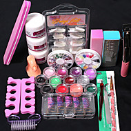 21Pcs/Set Glitter Powder Modification Manicure DIY Kit DIY Kit Nail Art Decoration Set