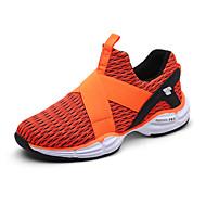 Sneakers-Tyl-par Sko Komfort Lysende såler-DamerUdendørs Sport Fritid-Flad hæl