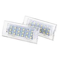 2 x blanc 18 LED feux de plaque d'immatriculation numéro lampe ampoule pour bmw e53 x5 1999-2006