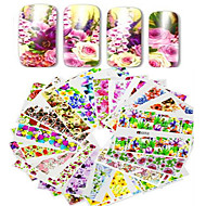1pcs 48pcs Nagelkunst sticker Watertransfer decals make-up Cosmetische Nagelkunst ontwerp