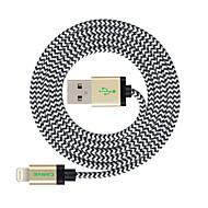 Lightning Cordon Câble de Charge Câble de Chargeur Données & Synchronisation Tressé Câble Pour Apple iPhone iPad 300 cm Nylon