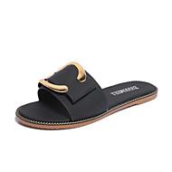 Kényelmes-Lapos-Női cipő-Szandálok-Alkalmi-PU-Fekete Kék